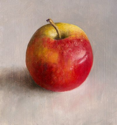 Apple with dent