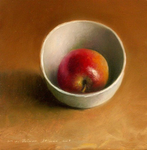 Apple in a bowl
