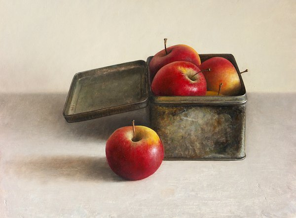 Still life with apples, stage 5