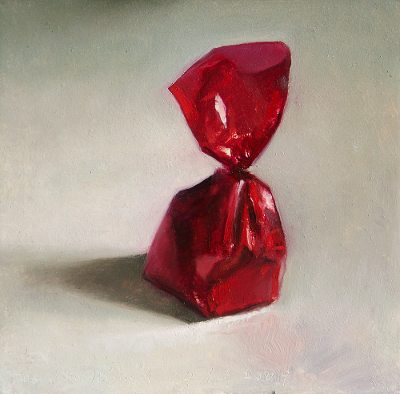 Still life with cherry bonbon
