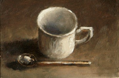 Still Life with Coffee Cup and Spoon