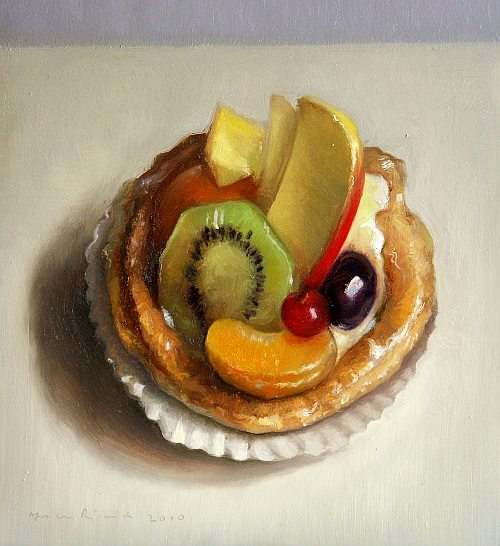 Still life with fruit tart