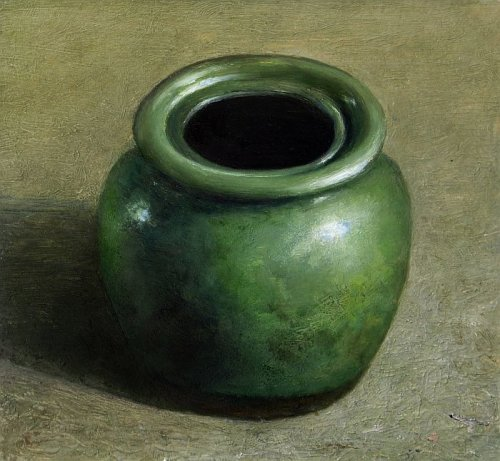 Still life with green vase