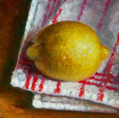 Still life with Lemon and Towel