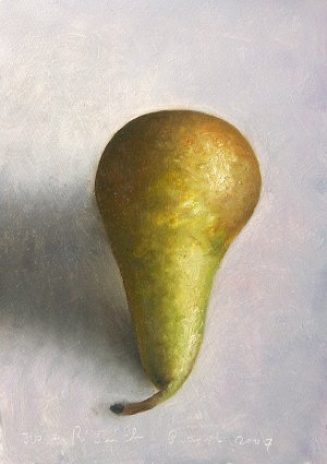 Pear, frontal view