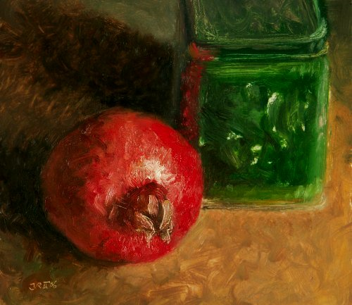 Still life with Pomegrenate and Green Box