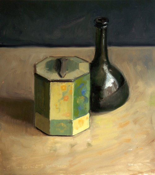 Still life with tea box