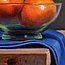 Tangerine still life, detail